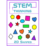 2D Shapes Clip Art- 10 Shapes in 10 Colors